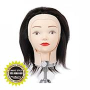[천혜사] MTW-Y 옐로우 남성 커트 연습모 가발 6인치, 100% 인모 - 노랑라벨