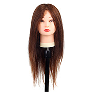 [W2] 100% 인모 예쁜갈색 통가발 18인치 약 45.72cm