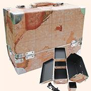 메이크업 박스(고급 2단/특대/브라운) /생활방수/보관케이스/메이크업박스
