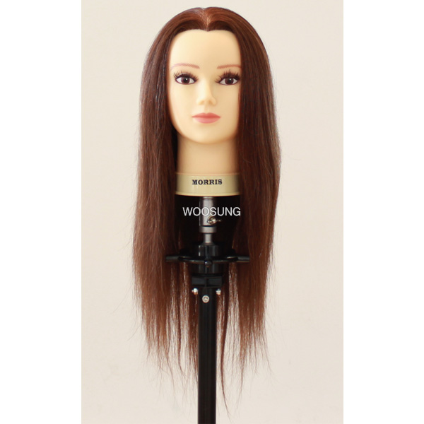 [W1] (18D) 100%인모 통가발 21인치 업스타일 연습용 긴머리 올백 길이중심형